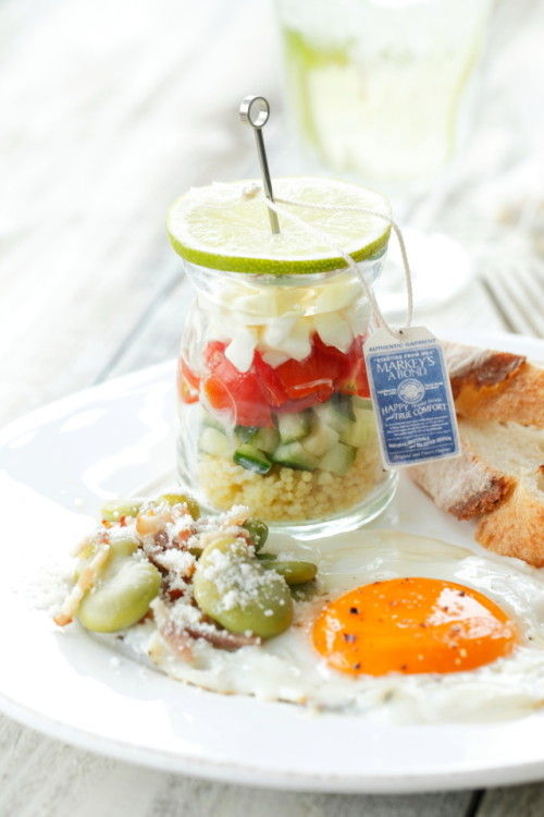 グラスサラダが涼しげ 初夏のおしゃれなブランチプレート