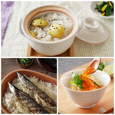 秋の味覚♪ 炊飯器で簡単レシピ 3選