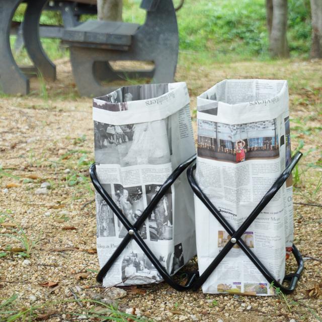 キャンプやBBQに便利! 新聞紙で作る簡単ゴミ箱