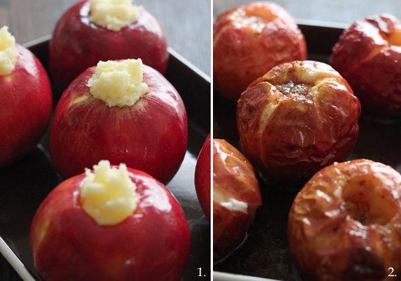 真冬においしい焼きりんご