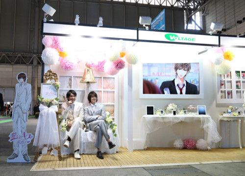 「東京ゲームショウ2013」の出展ブースで、乙女な世界をスタイリング♡