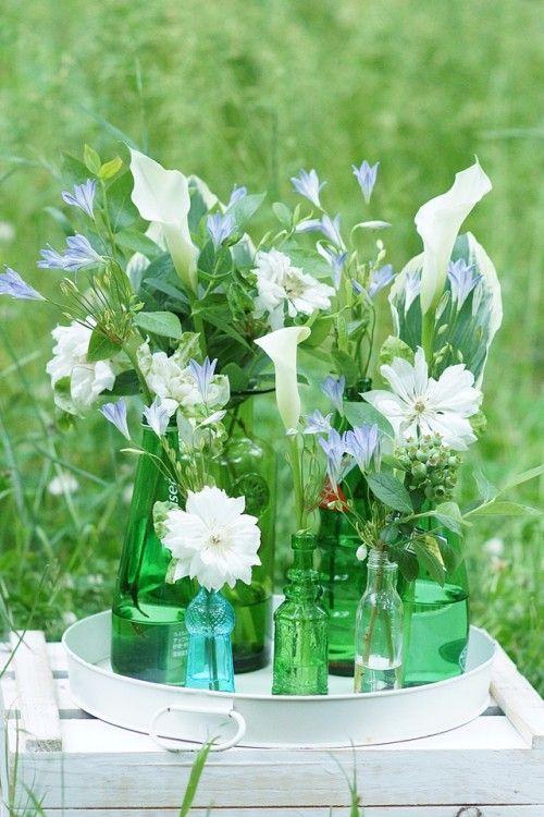 空き瓶をおしゃれに活用♪ 初夏の花活けのコツ