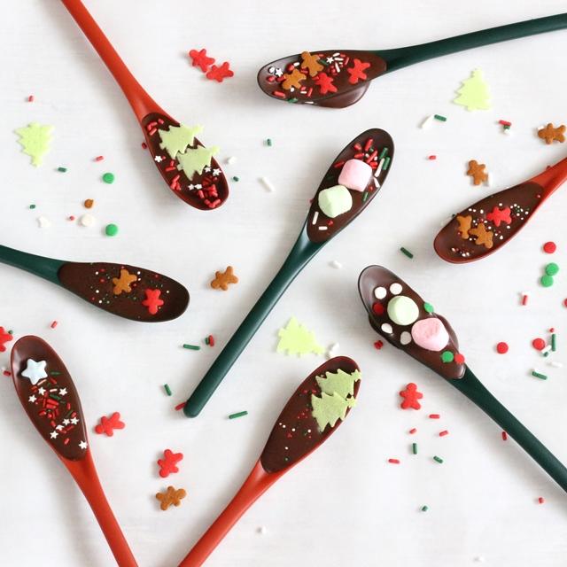 簡単クリスマスギフト♪ 可愛いスプーンチョコの作り方
