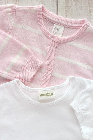 H&Mの子供服ではTシャツやカーディガンを 500~1300円前後で買うことができます。