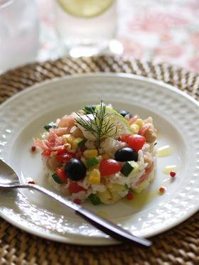 たっぷり野菜のライスサラダ