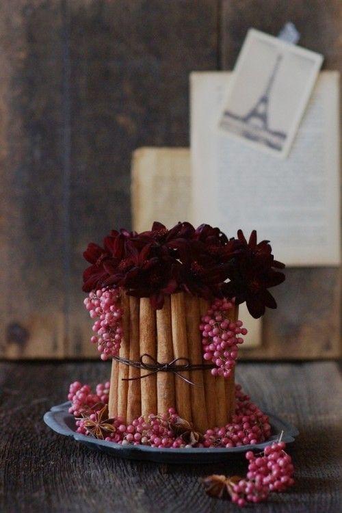 チョコレート色のお花で、スイート&クールに♪