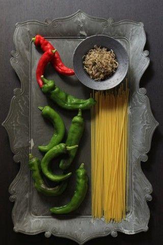 京野菜・万願寺とうがらしとじゃこのパスタ