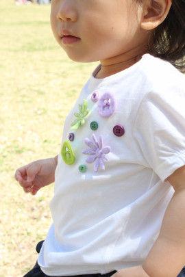 簡単ソーイングでシンプルな子ども服をかわいくおめかし♪