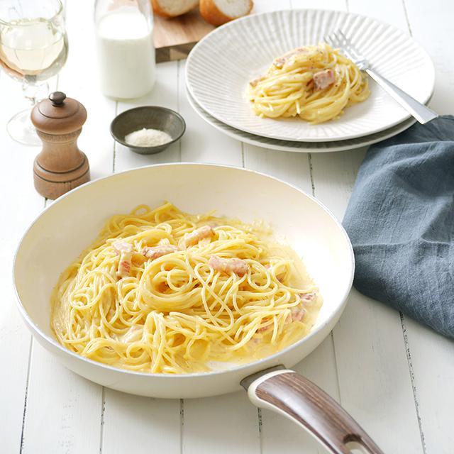 生クリームなし! 全卵で作る簡単「濃厚カルボナーラ」