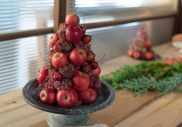 ヒメリンゴ クリスマスツリー 道の駅 長野県