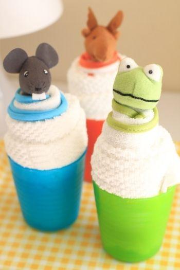 IKEAグッズで、ベビー向け☆カップケーキ風プチギフト