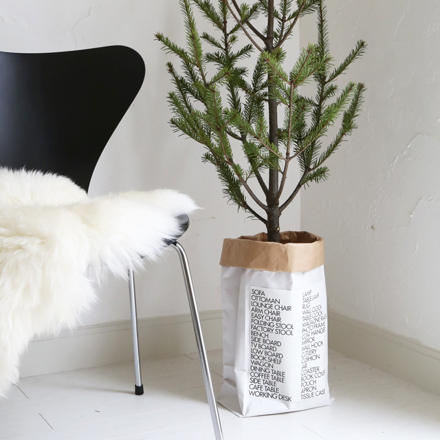 私流! イケアのモミの木を簡単に花器に飾る方法
