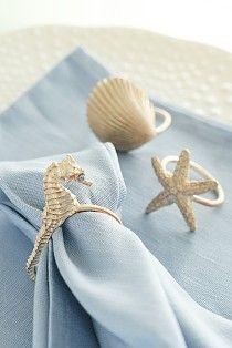 海モチーフのナプキンリング