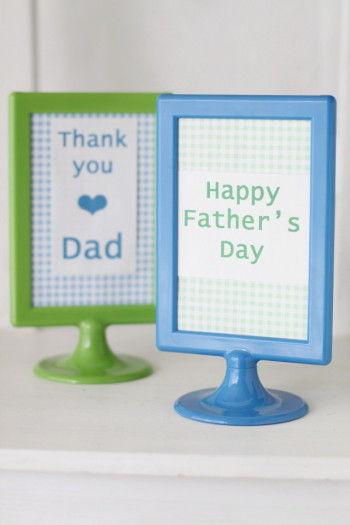こんな風に文字をパソコンで入力したり、 お子さんが描いたパパの絵を飾れば、 パパの疲れも吹き飛んじゃうかも~!!