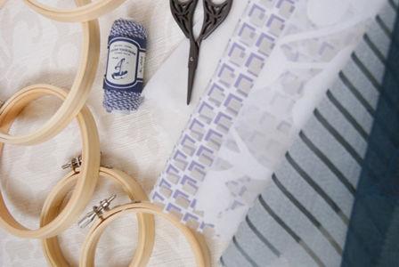 刺繍枠でつるし飾り