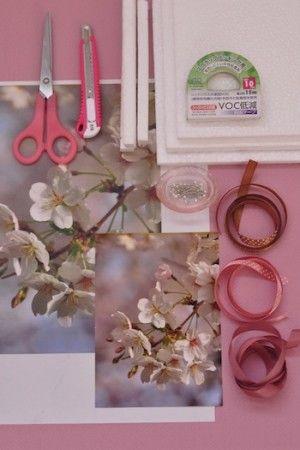 桜満喫!簡単で手軽な桜ボード