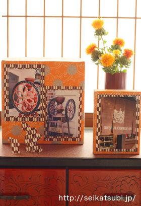 和紙を貼るだけ!空き箱リサイクルの簡単写真立て&アルバム