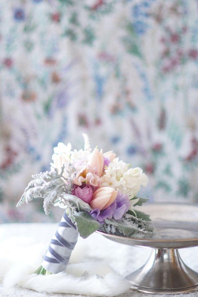 春の流行色・スモーキーパステルのお花で、季節を先取り♪
