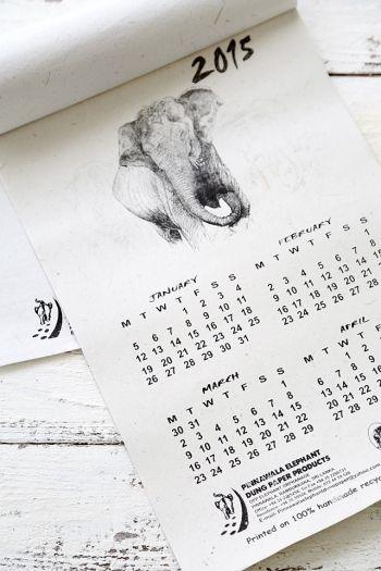 ゾウの糞から作ったカレンダーって何?