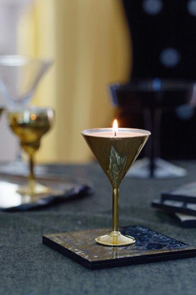 ヴェスティージ フレグランス アクセサリー Crackle シルバー¥900、 FHU Candle Cup B ゴールド¥1000