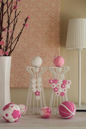 IKEAのキャンドルスタンドで桃の節句のデコレーション