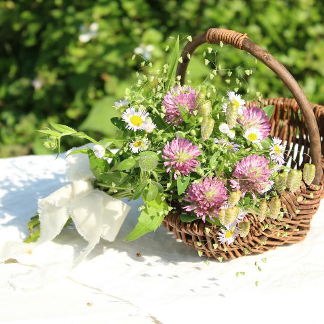 [カジュアルフラワー]野の草花を束ねる シャンペトルブーケの作り方