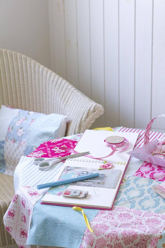 """手作り女子のDream Room""""Tildaのお部屋""""~縫わないでできるパッチワーク風テーブルクロスの作り方"""