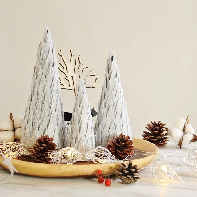 簡単×おしゃれ ALL100均で作るフェルトのクリスマスツリー