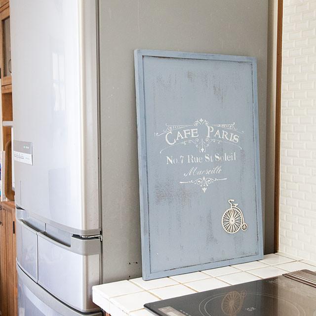 簡単ペイント+ステンシルで、冷蔵庫のメモをすっきりおしゃれにする方法