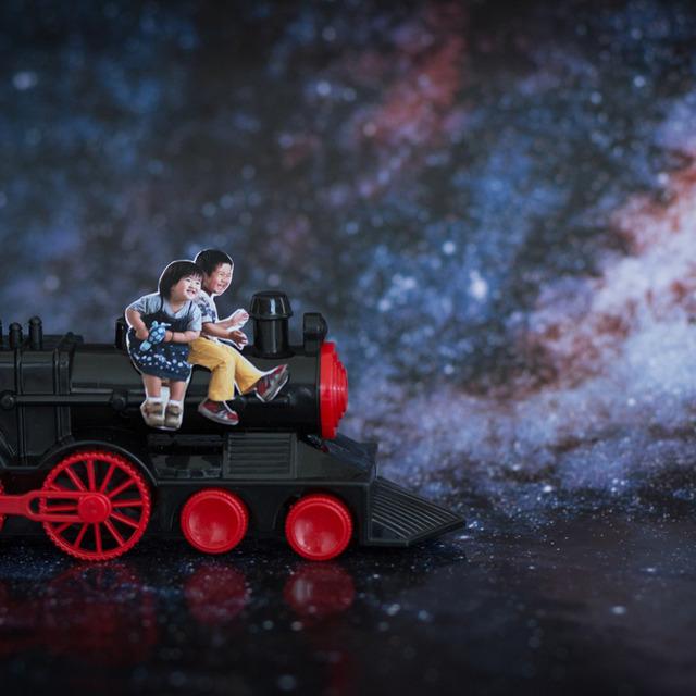 まるで銀河鉄道999!おもちゃのSLで七夕の夜を走ってみよう♫