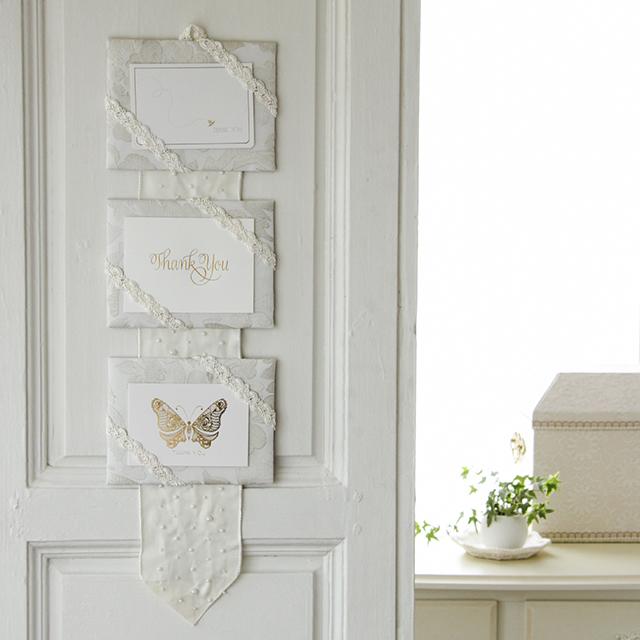 簡単カルトナージュ~お気に入りのカードを飾る三段ペルメル