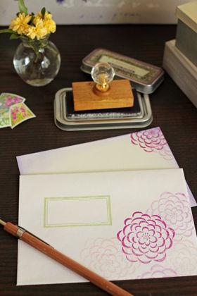 スタンプで作るオリジナルカード&封筒
