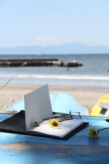 いろいろな旅の記念になる紙ものとともに、 「トラベラーズノート」に 花を挟んで持ち帰ることにしました。