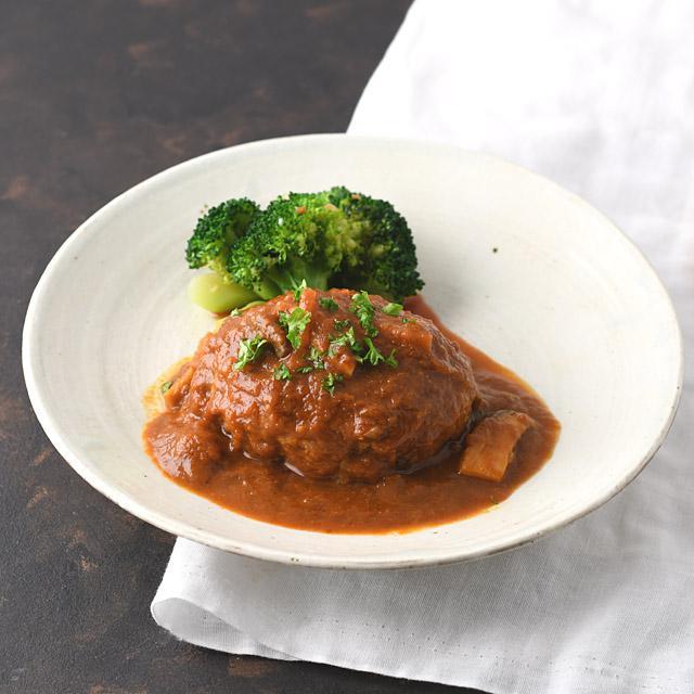 【炊飯器レシピ】 ふっくらジューシー♪ 煮込まない煮込みハンバーグ