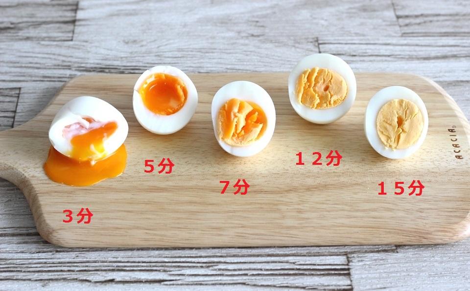 ゆで 卵 の 茹で 時間