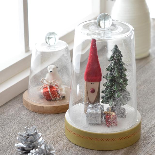 クリスマスを素敵に飾ろう☆ ダイソー「うすぐらす」を使ったガラスドームの作り方