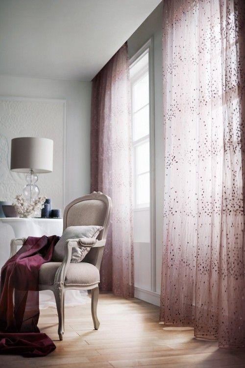 「Precious Time」バレエ/Ballet ピンクからパープルのグラデーションの色糸の総刺繍が華やかな広幅シアー