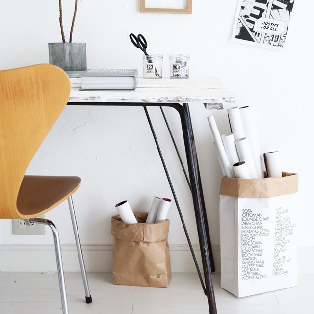 簡単収納に使える! お洒落なペーパーバッグは日本の米袋