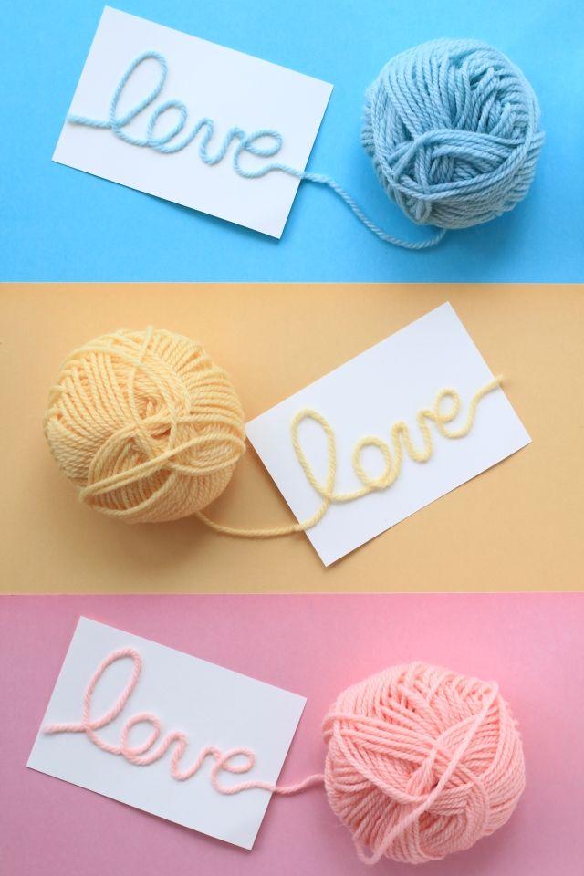 毛糸でLOVE!可愛いバレンタインカード