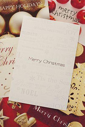 オーナメントでオリジナルクリスマスカード