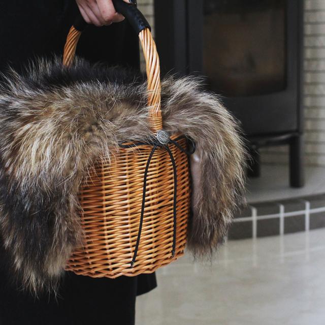 夏に活躍したかごバッグを秋仕様に簡単リメイク♪