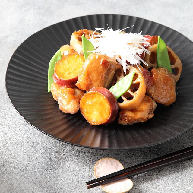 秋の食材レシピ♪ さつまいもと鶏肉の煮もの