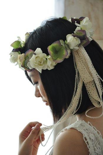 初夏の花嫁へ贈るくちなしの花冠