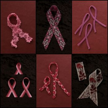 おしゃれなピンクリボンで乳がん検診を
