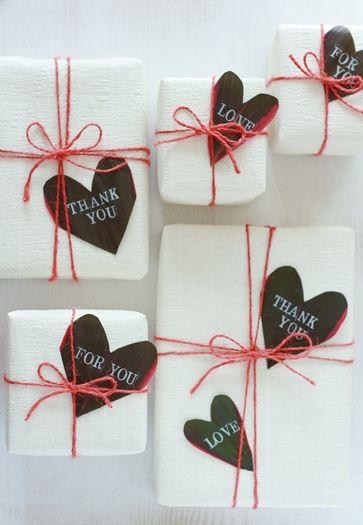 バレンタインに?葉っぱのメッセージカード