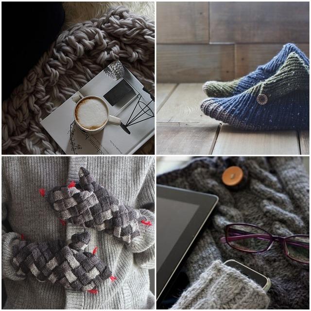 秋に編みたい毛糸小物 4選 ~チャンキーニット&ルームシューズ&手袋&スマホケース~