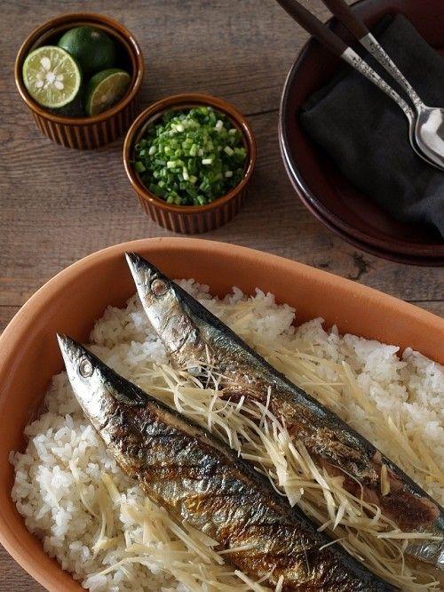 焼いた秋刀魚を炊き込むだけ! 秋の味覚 秋刀魚ごはん
