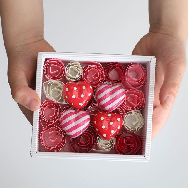 あそび育★こどもからパパへ 画用紙で作るバラのバレンタインギフト