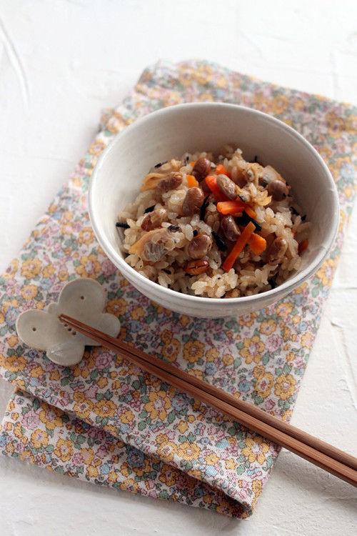豆まきで残ったお豆を使っちゃおう!栄養たっぷり豆ごはん♪