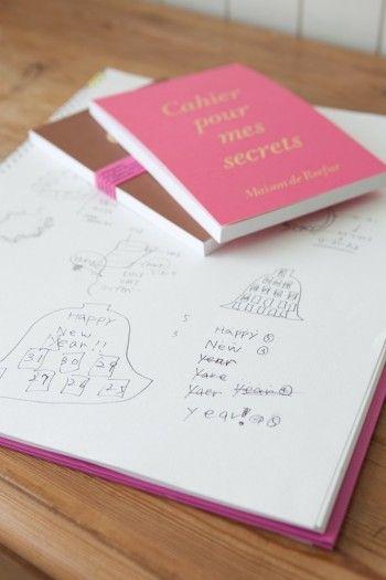 持ち運び用のネタ帳と、アイディアをイラストで描きこんだスケッチブック。